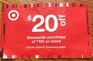 8$ ....20$ off 100$ at Target save 12$ for Sale in Cape Coral, FL