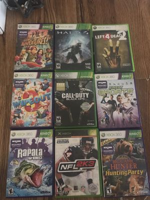 Xbox 360 games $20 take them all for $20 all 9 for $20 for Sale in Wheat Ridge, CO