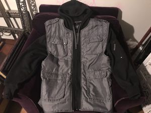Black Hoodie with detachable cargo vest for Sale in Lithia Springs, GA
