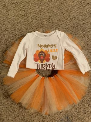 Baby girl thanksgiving tutu outfit for Sale in Houston, TX