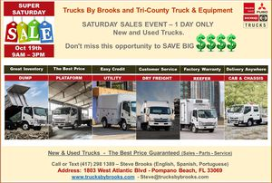 TRUCKS ISUZU, HINO, FUSO - SATURDAY SALES EVENT - 1 DAY ONLY for Sale in Pompano Beach, FL