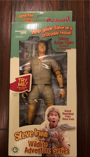 """Australia Zoo - Steve Irwin 9"""" Collectible Talking Poseable Action Figure for Sale in Fort Lauderdale, FL"""