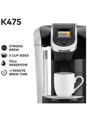 Keurig K575 Single Serve K-Cup Pod Coffee Maker with 12oz Brew Size, Strength Control, and Hot Water on Demand, Programmable, Platinum for Sale in Indianapolis, IN