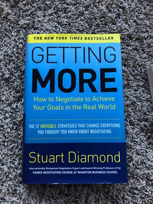 Getting More by Stuart Diamond for Sale in Baltimore, MD
