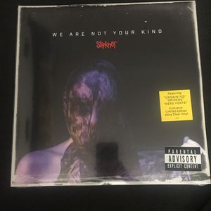 """Slipknot WE ARE NOT YOUR KIND Vinyl 12"""" Record CLEAR limited edition for Sale in Anaheim, CA"""