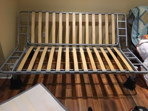 IKEA futon frame and mattress with mattress cover and risers for Sale in Lockport, NY