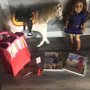 Retired American Girl Doll Saige Copeland, Horse Picasso, Books, and Accessories for Sale in Upland, CA