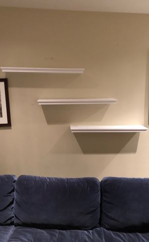 Three white wall shelves - pickup ASAP for Sale in San Francisco, CA