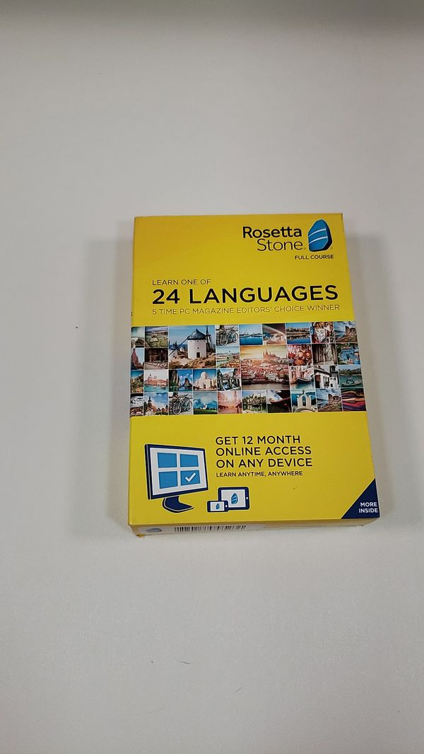 Rosetta stone learn one of 24 languages,Spanish, German, Chinese