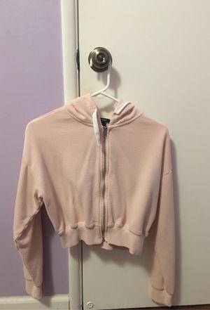 Forever21 pink hoodie crop top for Sale in Westminster, CA