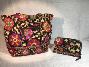 Vera Bradley Suzani Black purse & Wallet for Sale in Leesport, PA