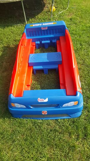 Car bed twin size all included as a complete unit possible mattress for it for Sale in Logansport, IN