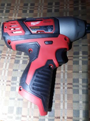 Milwaukee 12V 1/4 Inch Hex Impact Driver model # 2462 Tool Only for Sale in Wichita, KS