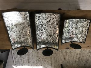 Mirrored Wall Mount Candle Holders Art Home Decor for Sale in Fort Lauderdale, FL