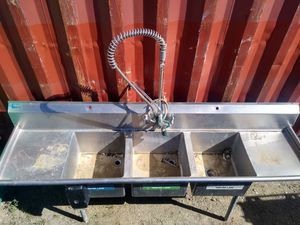 Commercial nsf sink with sprayer for Sale in North Highlands, CA