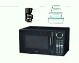Microwave, coffee machine and glass containers for Sale in Jersey City, NJ