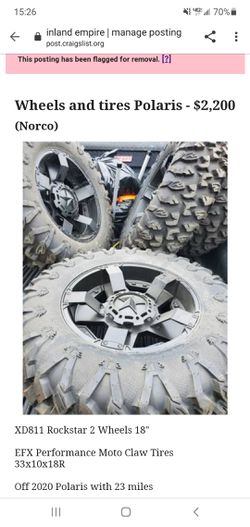 RZR 5 wheel and tire setup for Sale in Norco,  CA