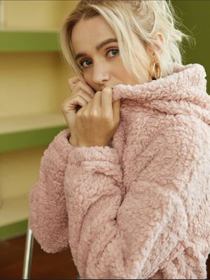 Pink Comfortable Brand New Fur Cropped Hoodie for Women for Sale in Houston, TX