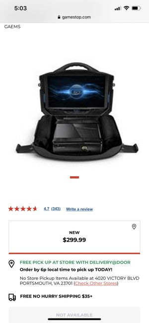 Gaems Model g155 gaming case with monitor for Sale in Chesapeake, VA