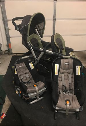 Double stroller and two car seats. for Sale in Atlanta, GA