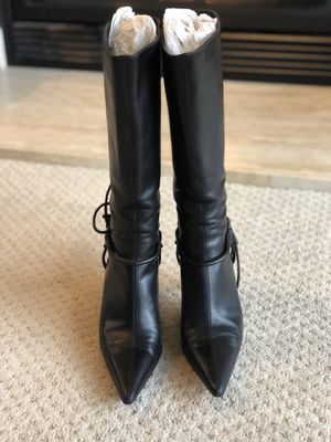 Authentic Gucci black leather boots Size 6 for Sale in Mercer Island, WA