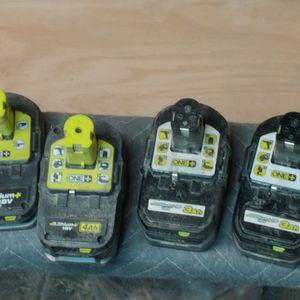 Ryobi 18v Batteries for Sale in Wichita, KS