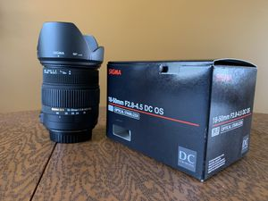 Sigma Lens for Canon Camera for Sale in Vero Beach, FL