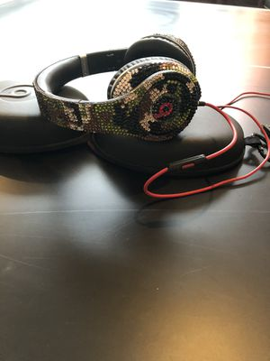"Beats ""custom"" camouflage beads wired headphones for Sale in Tamarac, FL"