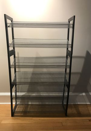 Stackable metallic shoe rack for Sale in Washington, DC