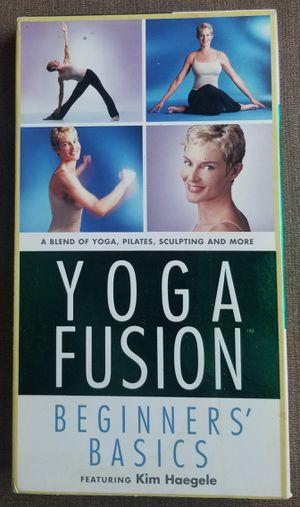 Yoga Fusion Beginners Basics Kim Haegele VHS movie for Sale in Three Rivers, MI