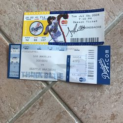 Two Dodgers Tickets * One Signed for Sale in Seattle,  WA