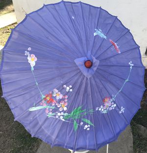 Lavender Floral Print Bamboo Parasol for Sale in Fresno, CA