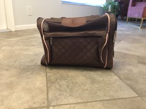Sherpa Brown/pink small dog/cat carrier for Sale in Boynton Beach, FL