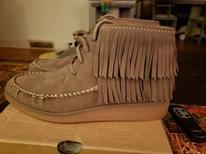 UGG Fringed Moccasin Booties Sz 9 Mouse NIB for Sale in Greensboro, NC
