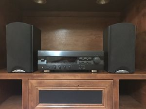 Stereo receiver. Yamaha stereo surround RX396 receiver with remote control. Klipisch book shelve speakers. All in excellent condition. for Sale in Phoenix, AZ
