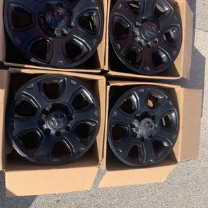 4 20x8 Satin Black Rims From 18' Ram 2500 for Sale in Tinley Park, IL