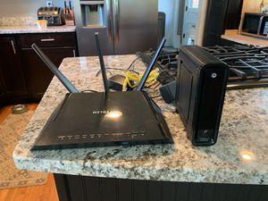 Netgear Router and Motorola Modem for Sale in Wheat Ridge, CO