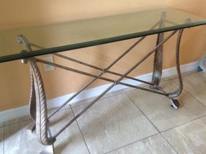 Console glass table for Sale in Palm Bay, FL