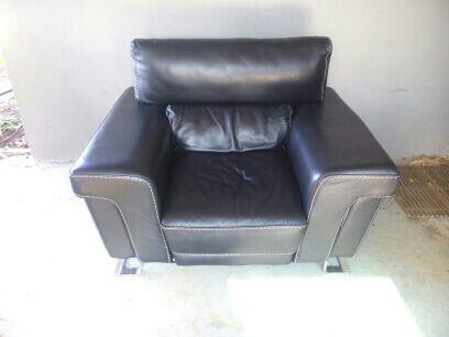 Spagnesi Italian Leather Amp Chrome Chair Amp Ottoman For Sale