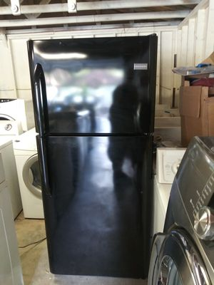 Shiny-black refrigerator for Sale in Mableton, GA