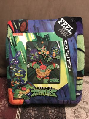 Rise Of the Teenage Mutant Ninja Turtles Silky Soft Throw for Sale in Sioux Falls, SD