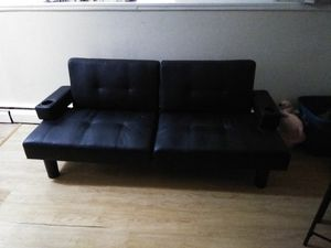 Leather futon for Sale in Hartford, CT
