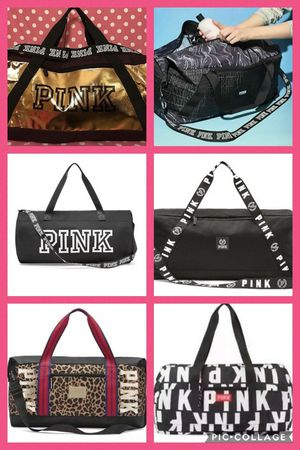 NEW PINK DUFFLE TRAVEL GYM BAGS for Sale in Stockton, CA
