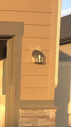 3 garage door lanterns with Phillips T2 bulbs for Sale in Spokane, WA
