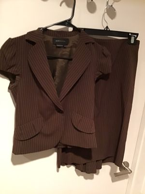 BROWN PINSTRIPE SKIRT AND JACKET SUIT for Sale in Irvine, CA