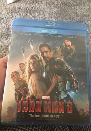 Blu-ray +dvd IRON MAN 3 for Sale in Phoenix, AZ