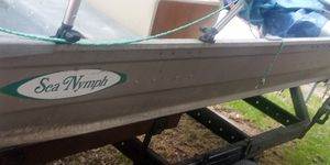 16ft aluminum boat with canopy 5 HP gas engine for Sale in Brooklyn Park, MD