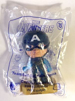 McDonald's Marvel Avengers Toy #15 Team Suit Captain America for Sale in Glendale, CA