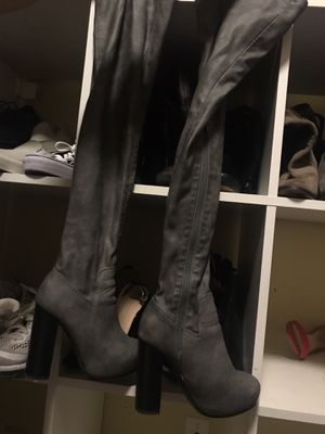 Jeffrey Campbell Thigh-high gray leather boots for Sale in Federal Way, WA