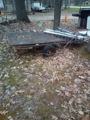 Trailer you can fix up as a lawn mower trailer utility trailer for Sale in Wellston, MI